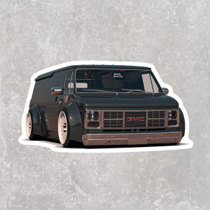 SlamVan Sticker (3″ x 2″)