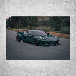Green Chevy C8 Poster