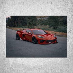 Red Chevy C8 Poster