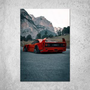 F40 in the Alps Poster